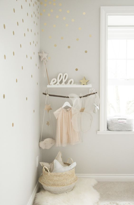 Pantone's Rose Quartz Makes for the Prettiest Little Girl's Room | Photography : Melissa Barling Read More on SMP: http://www.stylemepretty.com/living/2016/03/14/pantones-rose-quartz-makes-for-the-prettiest-little-girls-room/: