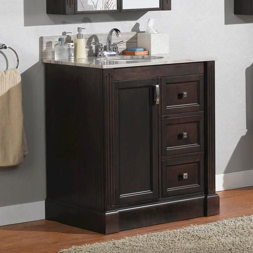 30 wellington collection vanity base at menards for the for Bathroom design wellington