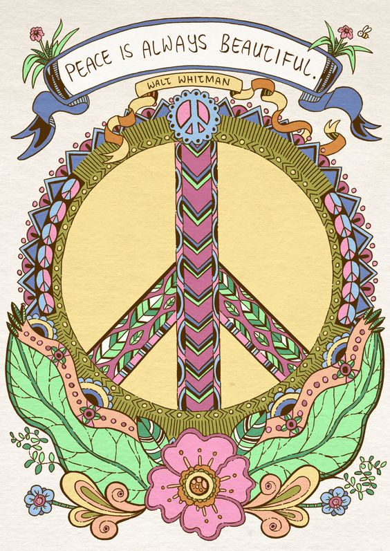 American Hippie Art ☮ Peace Sign ☮ Art Peace Sign