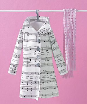 Coat and scarf made of paper by Matthew Sporzynski for Real Simple