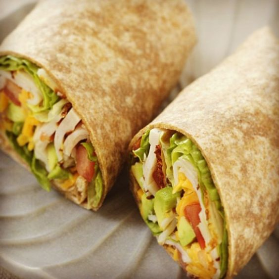 """Turkey, avocado and cheese wrap for lunch! """"Wrap that up and give it to a child on Christmas!"""""""