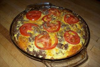"""WW Cheesburger Pie """"Point-less"""" Meals: 5 points"""