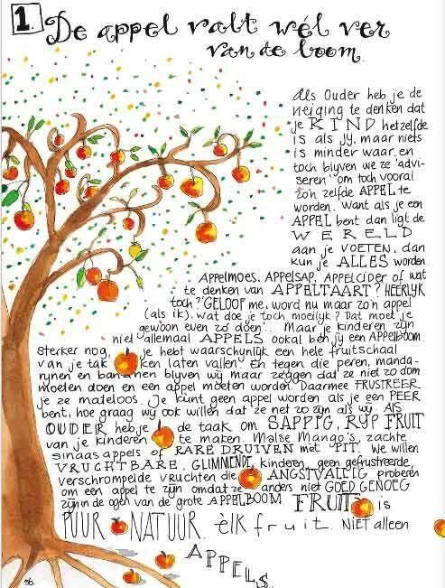 De appel valt wél ver van de boom.  Mooi!  #levenslijnen via www.vivier.nl/levenslijnen.html