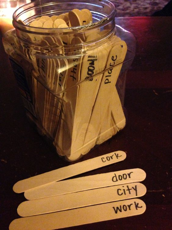 BOOM! Sight Word Game. Words written on large wood craft sticks. Timed game. Kids pull a stick, if they read it correctly it goes into their pile, can't read it and it goes back in. Pull a BOOM! stick and your whole pile goes back in. Whoever has the most sticks in their pile at the end wins! Great for my kids who aren't flashcard kids!