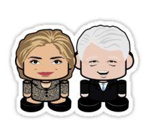 Hillary and Bill Clinton Politico'bots Toy Robots Political Gift | #Sticker #hillaryclinton #billclinton #clinton #presidentclinton #presidentclintons #madampresident #firstdude #onjenayo #robots #obots #politocobots #politicalgift #politicaltoy #politics #political #bubba #chibi #kawaii #funny #cute #spreadLOVE #meannessKILL #equalopportunitycutie  #politicaljunkie #junkie
