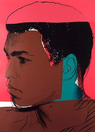 Stolen Andy Warhol painting of Muhammad Ali which was taken in a raid on a Los Angeles home in September 2009