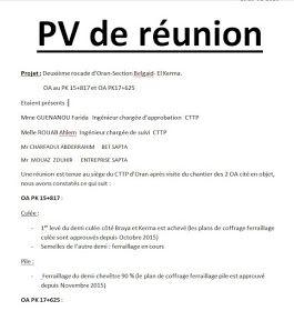 Exemple De Pv Reunion Word Doc Autocad Words Plan Dissertation