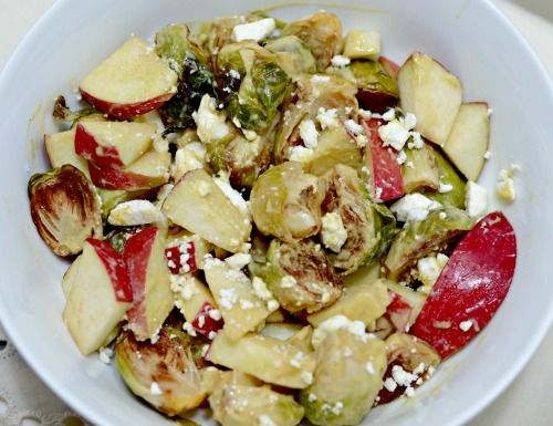 Apple, Feta and Dijon Brussels sprouts