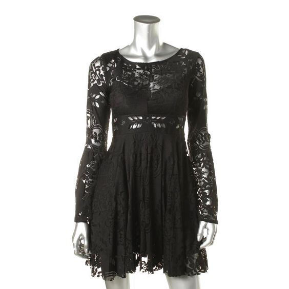 660123ca6c Free People 6022 Womens Lace Bell Sleeves Party Cocktail Dress BHFO  39.99