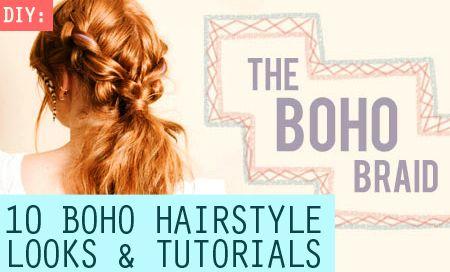 10 Boho Hairstyle Looks & Tutorials