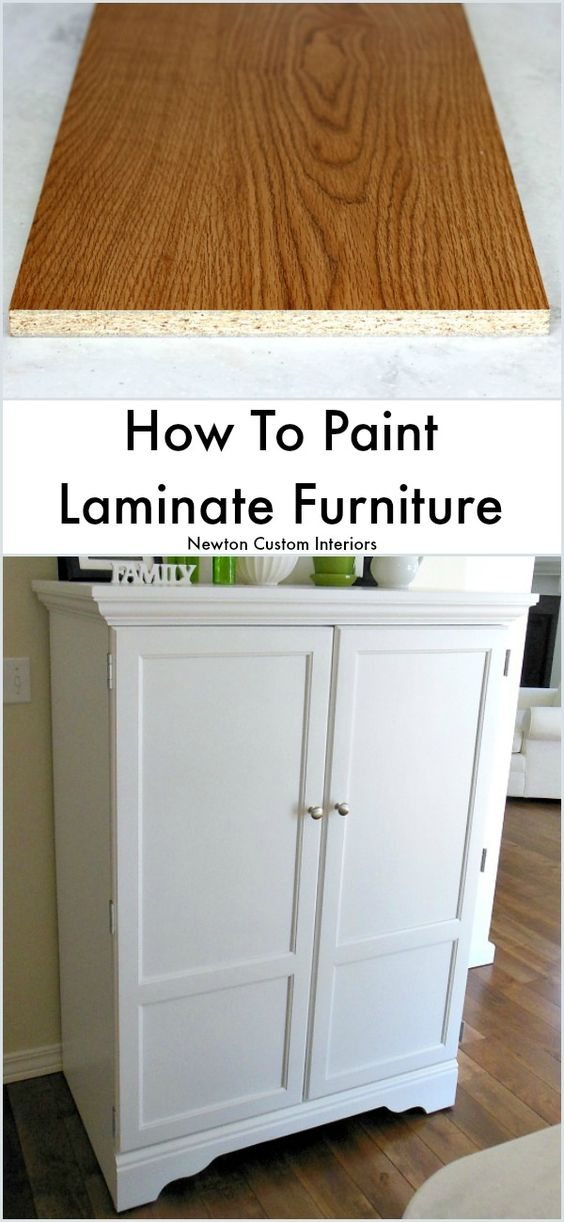Learn how to paint laminate furniture quickly and easily with this step-by-step video tutorial!  Which makes this a popular pin!