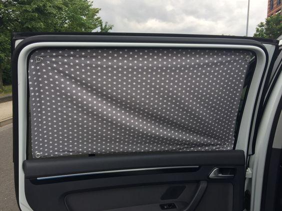 Sonnenschutz für die hinteren Seitenscheiben selbst nähen