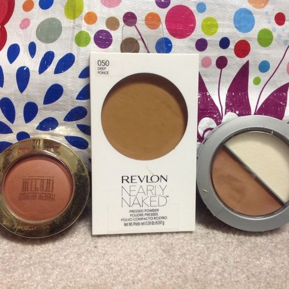 Bronzer and blush bundle of 3. Sealed/Unused 3 unused products. Close ups shown in this order:  Almay, Revlon, Milani.  Sorry they are a little blurry. Tried to so show seal and info.  $7 for Revlon and $6 for other 2 individually. Revlon and Almay Makeup Bronzer