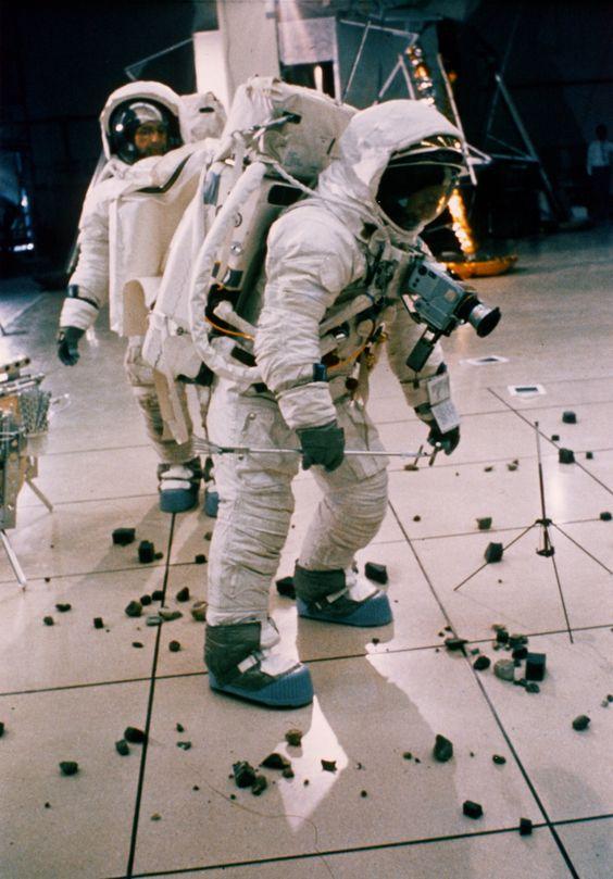 Apollo 12 astronauts train for the Moon, September 1969.