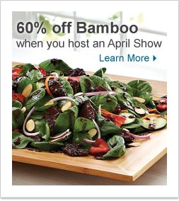 Host in April and get 60% off from the Bamboo Collection!