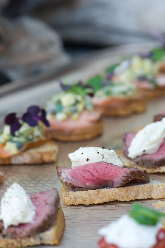 open sandwiches for late night snacks - Wedding Food