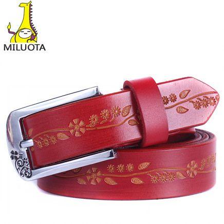 2014 Cintos Femininos moda 100% couro genuíno das mulheres Cintos de Metal Pin fivela Cintos de couro para mulheres DE041 em Cintos e Faixas de Roupas e Acessórios Femininos no AliExpress.com | Alibaba Group
