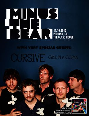 Minus The Bear play on Nov. 10  http://www.theglasshouse.us/event/136069/