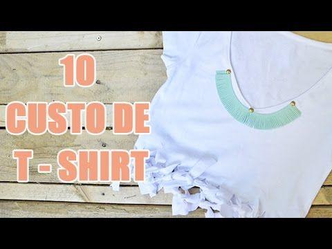 10 idées DIY de customisation de tee-shirt par YouMakeFashion - customisation de vêtements - YouTube                                                                                                                                                     Plus