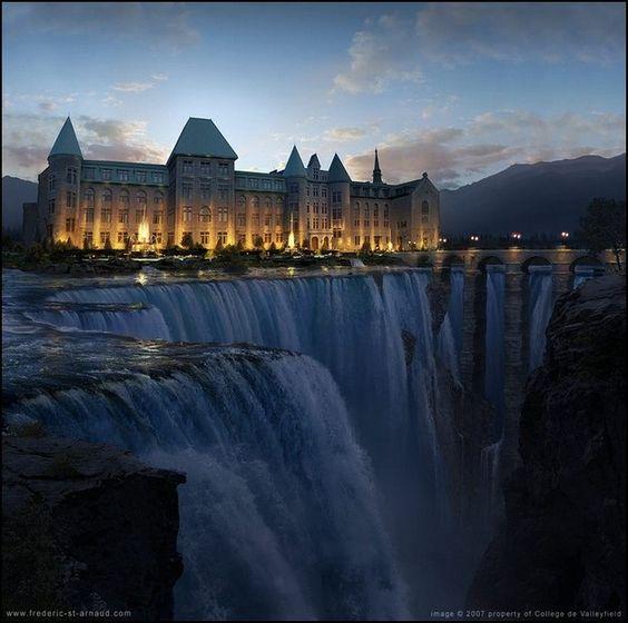 Waterfall hotel : )