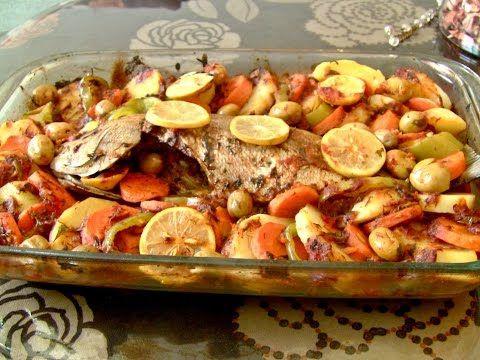 سمك في الفرن صحي ولذيذ بالطريقة المغربية Youtube Food Sausage Meat