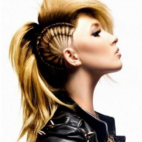 Phenomenal Long Hair With Braided Sides For A Mohawk Look Without Shaving Short Hairstyles For Black Women Fulllsitofus