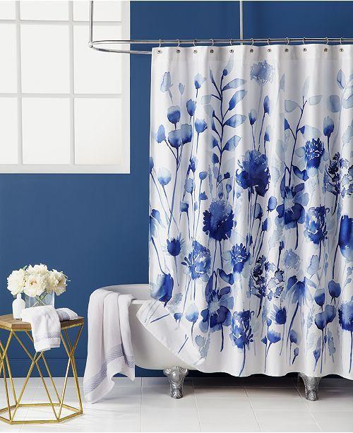 Corran Floral Print 72 X 72 Shower Curtain Curtains