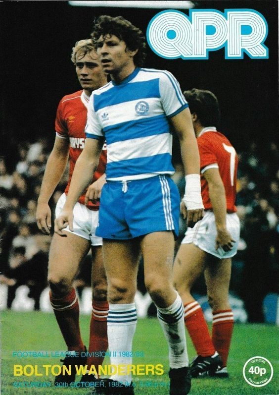 QPR 1 Bolton Wanderers 0 in October 1982 at Loftus Road. The programme cover…