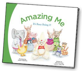 Amazing Me-It's Busy Being 3!  Meet Joey, an amazing 3-year-old kangaroo who is very excited about all that he can do now that he is three. Joey doesn't know it, but these amazing things are called developmental milestones, and they're a very important part of each child's growth.  Download the FREE book as a PDF and print out. What a great idea for parents or for prechool teachers or day care workers to give information to parents!