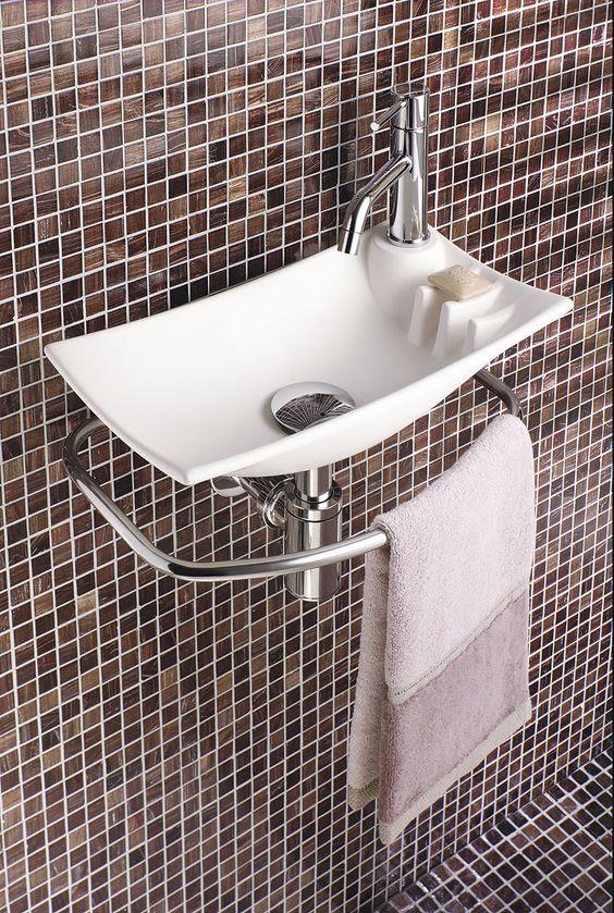 Lave mains decotec feuille espace aubade 40x21 deco wc pinterest - Model deco wc ...