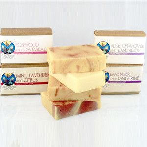 Floral Soaps Set Of 4 now featured on Fab.