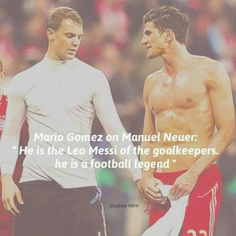 Mario Gomez on Manuel Neuer