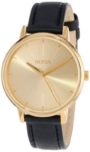 Nixon Kensington Champagne Dial Black Leather Strap Ladies Watch A108501 NIXON,http://www.amazon.com/dp/B001Z5P8I8/ref=cm_sw_r_pi_dp_30pIsb18AVMHDEV5