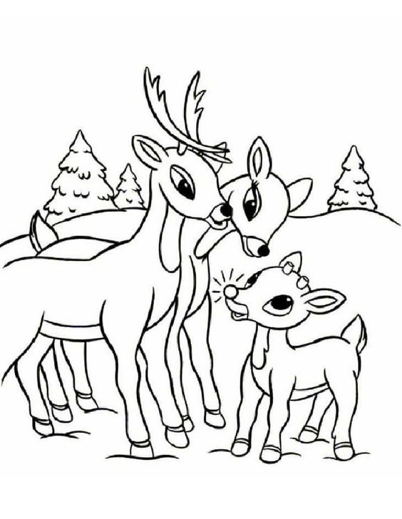 Free Printable Reindeer Coloring Pages For Kids Rudolph Coloring Pages Santa Coloring Pages Deer Coloring Pages