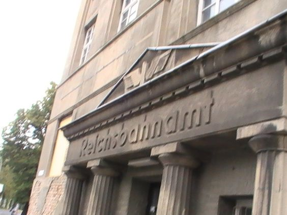 Eingang Reichsbahnamt am 28.08.2008.