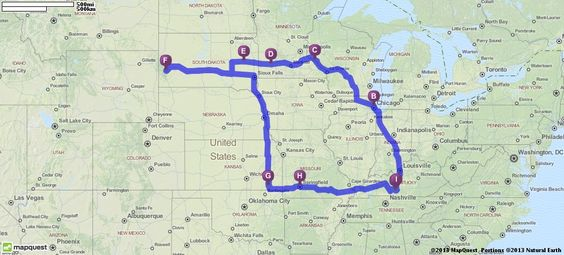 Driving Route to hit all of the Little House homesteads (and Mt. Rushmore!)