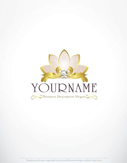 exclusive logo store � lotus logo design royal crown