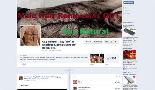 """""""Gay Natural"""" piden decir no a la depilación, la cirugía estética y al bótox"""