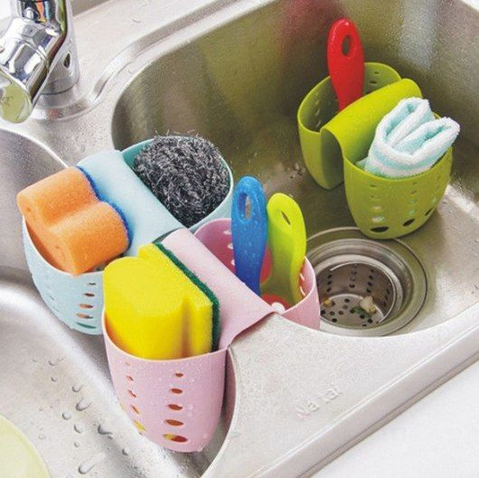Over The Sink Sponge Holder Kitchen Sponge Holder Kitchen Gadgets Storage Silicone Kitchen Gadgets