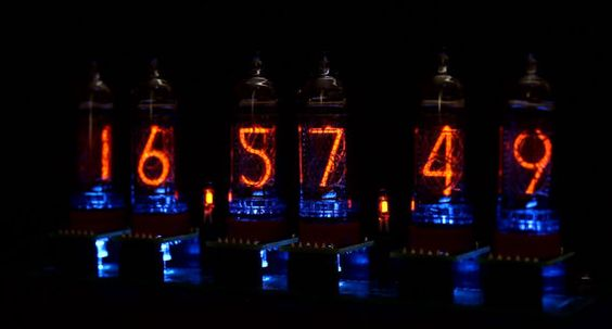 IN 8 Nixie Tube Clock Connected By Cables