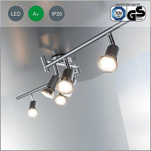 Cute Homdox LED Spotleuchte flammig Deckenleuchte Deckenbalken LED Deckenspot Deckenstrahler Deckenlampe Spots LED Strahler Wohnzimmerlampe Decke u