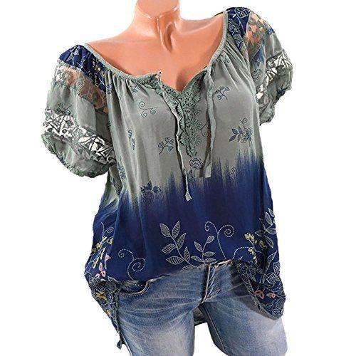 Damen Sommer T-Shirt Top Kurzarm Schulterfrei Oberteil Bluse Shirt Tee Übergröße