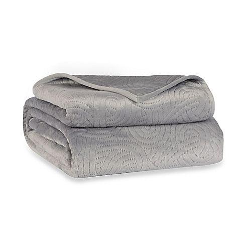 Berkshire Blanket® LoftMink™ Reversible Full/Queen Blanket in Grey