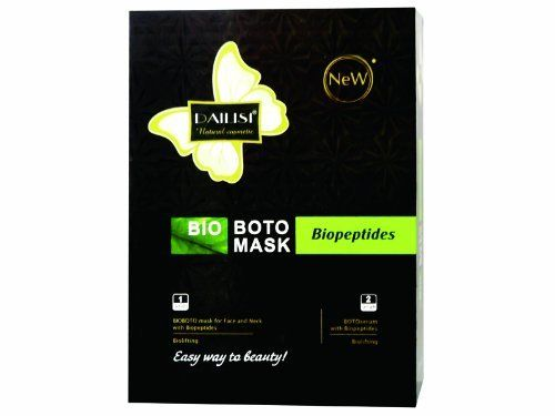 DAILISI BIOLIFTING Face and Neck Biopeptides Mask (10Pcs) by DAILISI. $9.99. Plant extractions, Vitamin E and Green Tea. Formulated with the Best Materials & Ingredients!. Suitable for all skin types. The Natural Cosmetic Solution for moisturizing and whitening. EASY WAY TO BEAUTY!~. Put the Mask on carefully on the cleaned skin for 15 minutes and remove the mask and rinse your face.   For improving results: Apply once a day, for 6 consecutive days. After that, ...