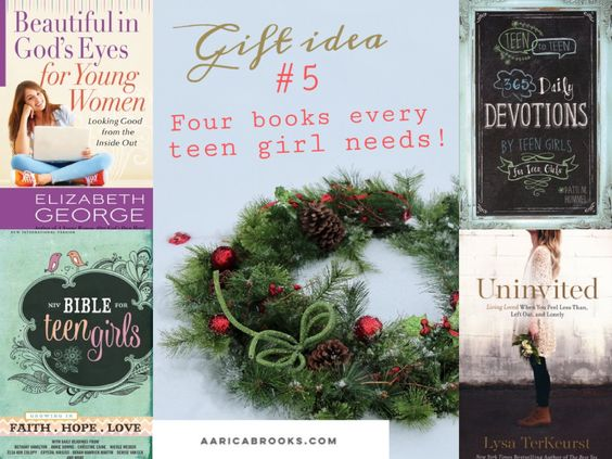 Gift ideas for yourself or the tweens, teens and young women in your life throughout this Christmas Season! Gift Idea #5, Four books every teen needs!  All available at Christianbook.com #giftideas #beautiful #bible #devotions #uninvited #Christmas #shopping #holidaygifts #giftsforteens #MerryChristmas #girlgifts #AaricaBrooks #blogger #girlmentor