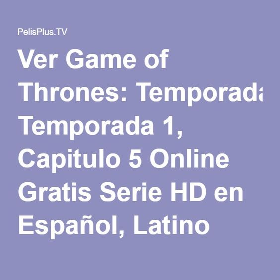 game of thrones ver online