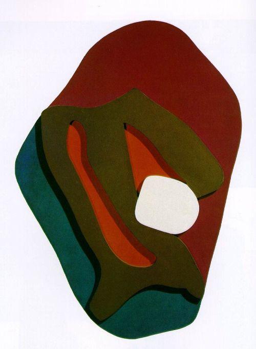 Jean Arp, Larmes d'Enak. Formes terrestres [Enak's Tears (Terrestrial Forms)], 1917, relief, bois peint [Painted wood], 86,2 x 58,5 x 6 cm, MOMA, New York.