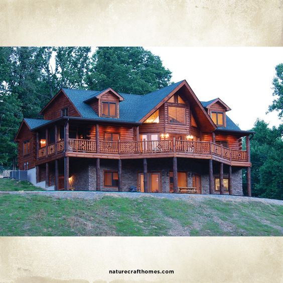 Log homes logs and custom floor plans on pinterest for Log home plans prices