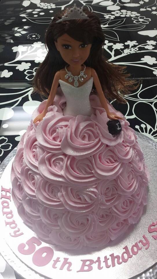 dolly varden cake with pretty buttercream rosettes by