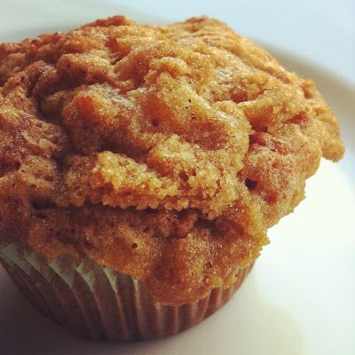 Brown Sugar Crumble Banana Muffins #recipe